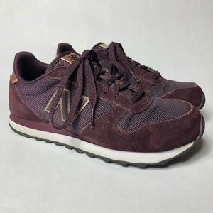 New Balance 311 Maroon/Rose Gold Suede Shoes